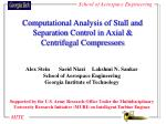 Computational Analysis of Stall and Separation Control in Axial & Centrifugal Compressors