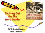 Shutting Out  the Sky Word Ladder