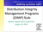 Distribution Integrity Management Programs (DIMP) Rule