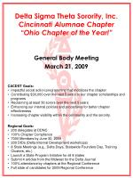 "Delta Sigma Theta Sorority, Inc. Cincinnati Alumnae Chapter ""Ohio Chapter of the Year!"""