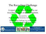 The Recycling Challenge