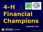 4-H Financial Champions