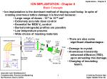 ION IMPLANTATION - Chapter 8 Basic Concepts