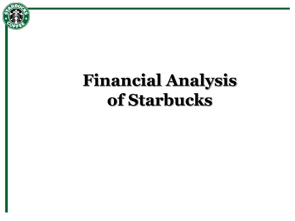 financial analysis of starbucks l.