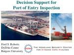 Decision Support for Port of Entry Inspection