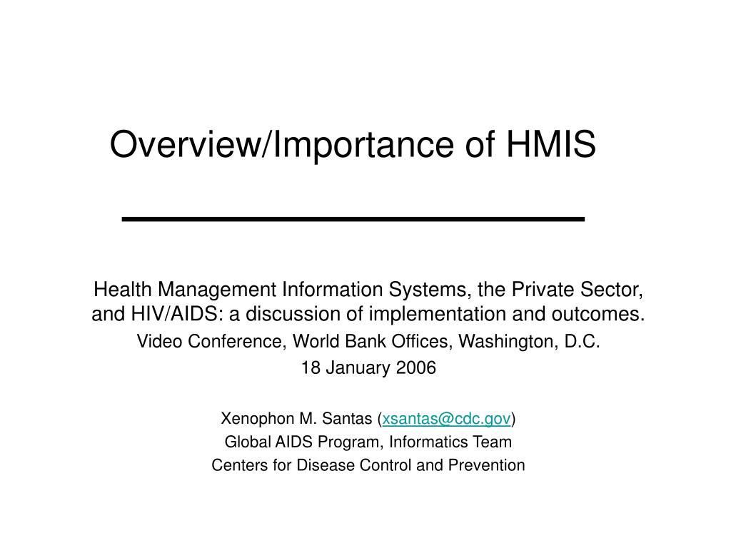 overview importance of hmis l.