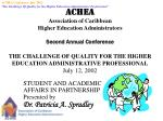 STUDENT AND ACADEMIC AFFAIRS IN PARTNERSHIP Presented by Dr. Patricia A. Spradley