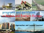 Management of projects, programs and portfolios in Russia and Eastern Europe