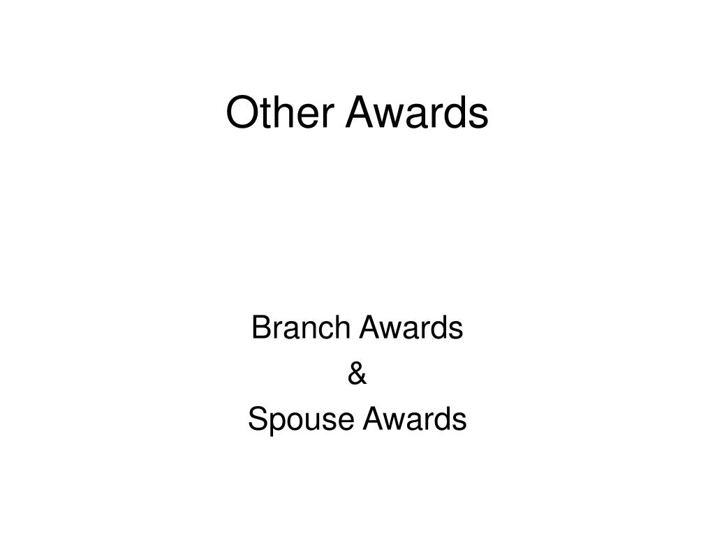 other awards l.