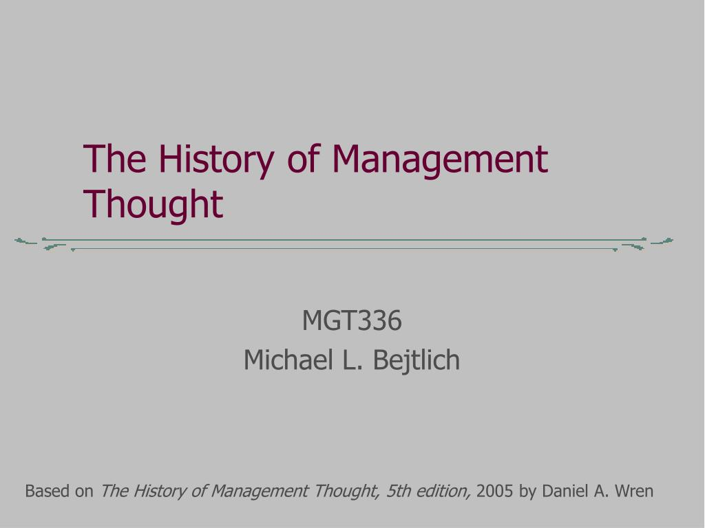 Ch 2 management history.