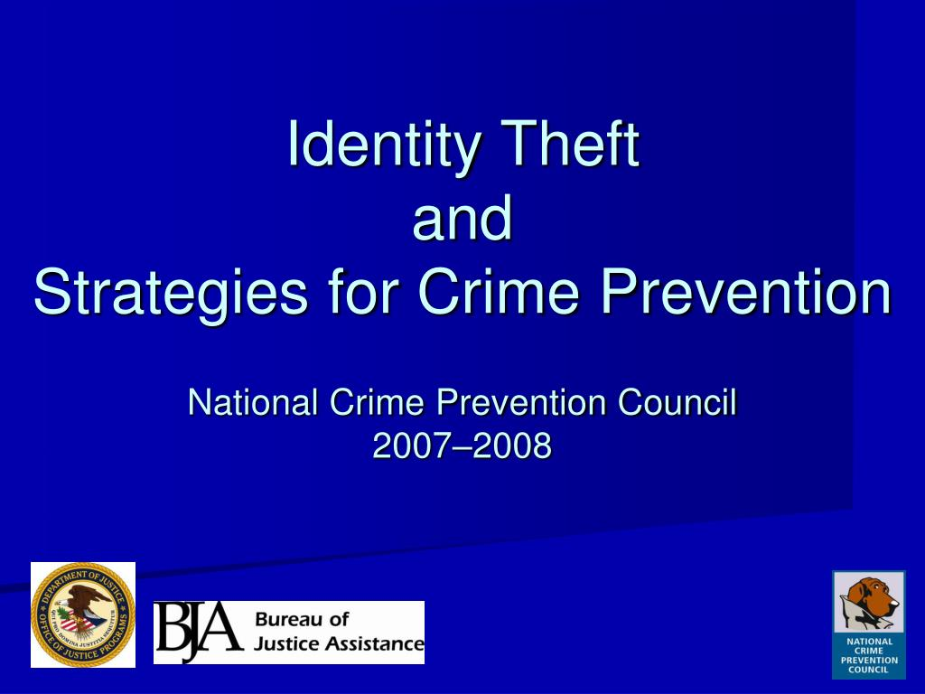 identity theft and strategies for crime prevention l.