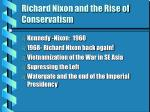 Richard Nixon and the Rise of Conservatism
