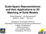 Scale-Space Representations and their Applications to 3D Matching of Solid Models