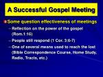 A Successful Gospel Meeting