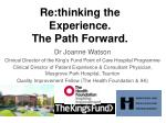 Dr Joanne Watson Clinical Director of the King's Fund Point of Care Hospital Programme