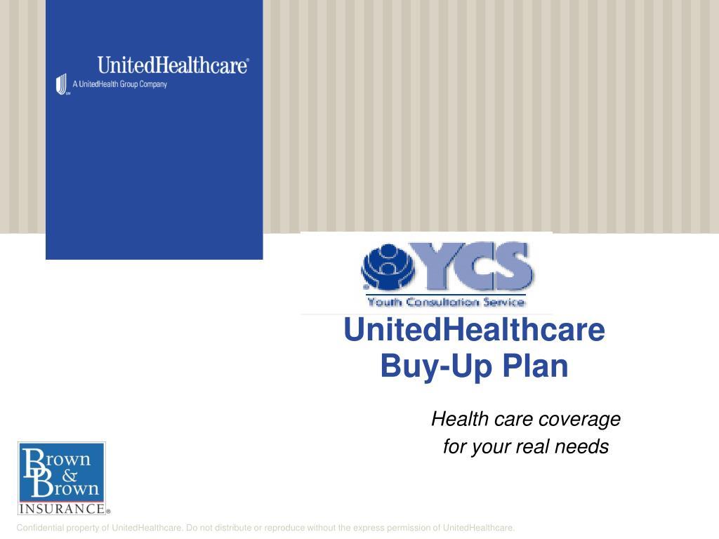 unitedhealthcare buy up plan l.