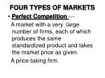 FOUR TYPES OF MARKETS