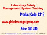 laboratory Safety Management Training Prasentation