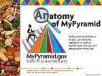 MyPyramid symbolizes a simple, personalized approach to making healthy food choices and being active every day.