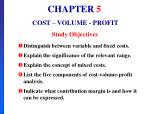 CHAPTER 5 COST – VOLUME - PROFIT