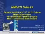 AIMB PM Team Embedded  & Industrial  Computers  Group Q2, 2011
