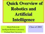 Quick Overview of Robotics and Artificial Intelligence
