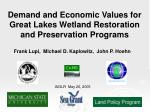 Demand and Economic Values for Great Lakes Wetland Restoration and Preservation Programs