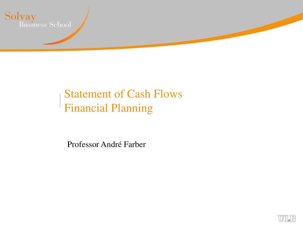 statement of cash flows financial planning l.