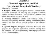 Chapter 2 Chemical Apparatus, and Unit Operation of Analytical Chemistry
