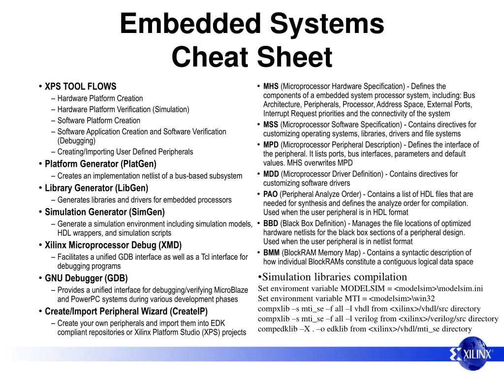 embedded systems cheat sheet l.