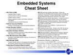 Embedded Systems Cheat Sheet