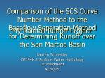 Comparison of the SCS Curve Number Method to the Baseflow Separation Method for Determining Runoff over the San Marcos B