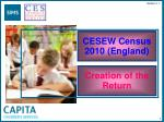 CESEW Census 2010 (England)
