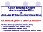 Kellan Tetraflex KH3500 Accommodative IOLs vs. Acri.Lisa Diffractive Multifocal IOLs