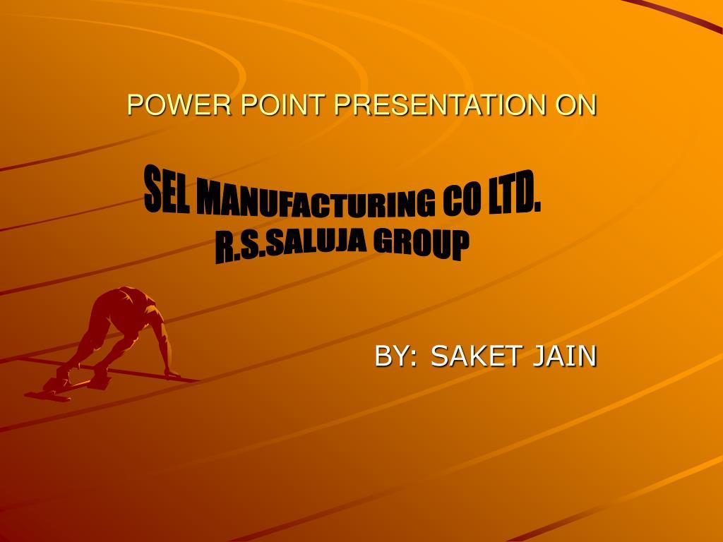 power point presentation on l.