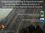 Using distance sampling & hierarchical models to estimate Dall's sheep abundance in  Gates of the Arctic National Pa