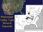 Mississippi  Valley Type Mineral Deposits