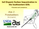 Soil Organic Carbon Sequestration in the Southeastern USA: