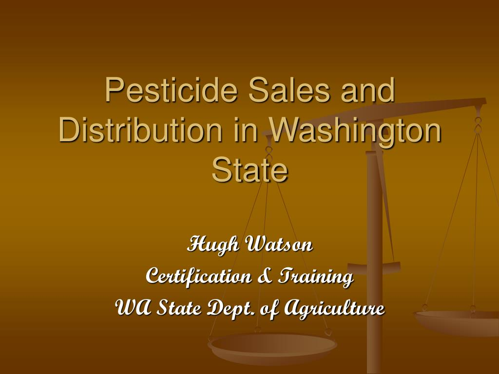 pesticide sales and distribution in washington state l.