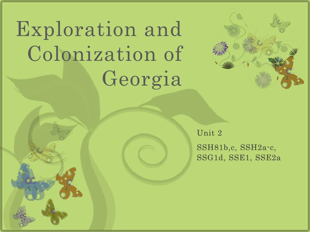 exploration and colonization of georgia l.