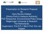 Presentation on Research Proposal  by