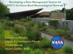 Developing a Data Management System for NYC's 1st Green Roof Meteorological Network
