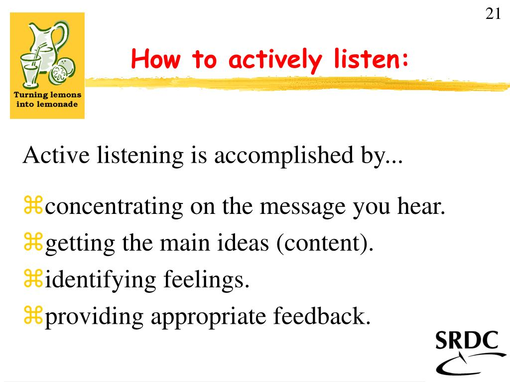 how to actively listen l.
