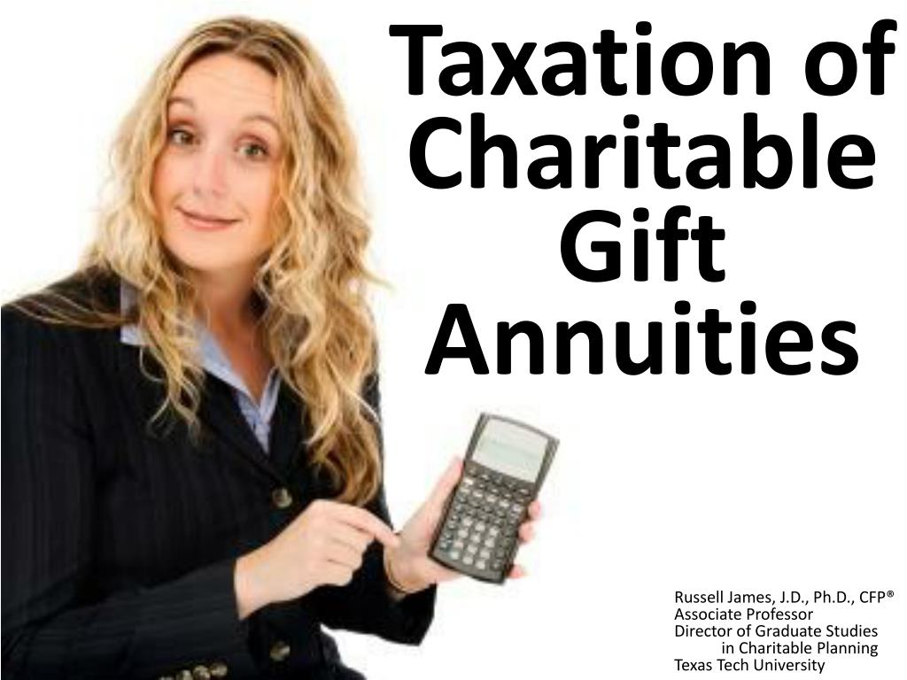 taxation of charitable gift annuities l.