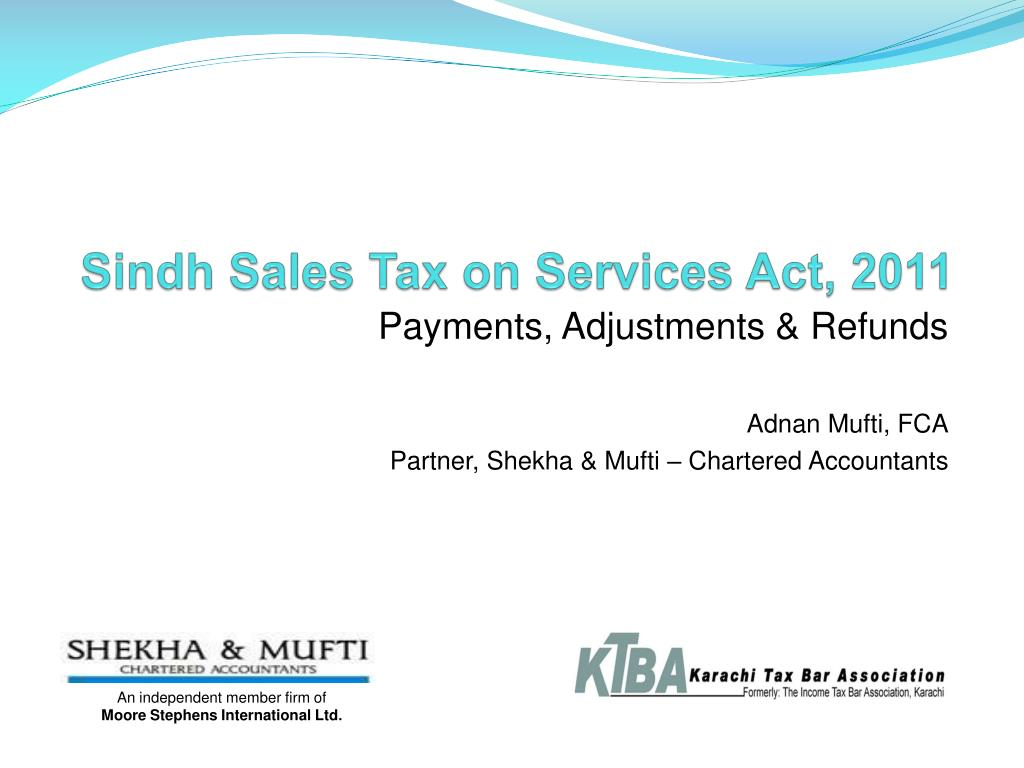 sindh sales tax on services act 2011 l.
