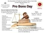 Bar Association of Frederick County Pro Bono Committee and the Legal Aid Bureau, Inc.  Present Pro Bono Day