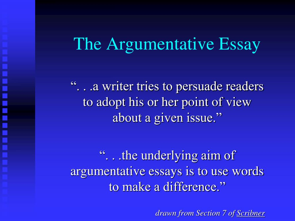 ppt   the argumentative essay powerpoint presentation   id the argumentative essay l