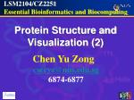 LSM2104/CZ2251  Essential Bioinformatics and Biocomputing
