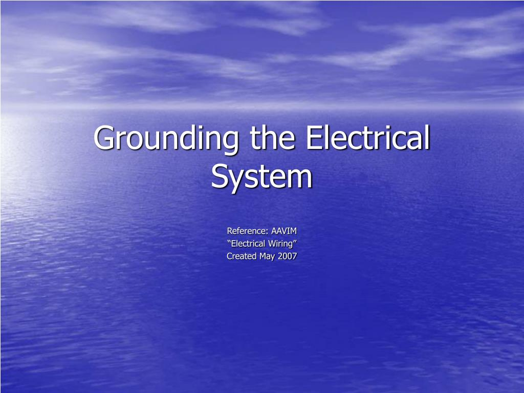 grounding the electrical system l.