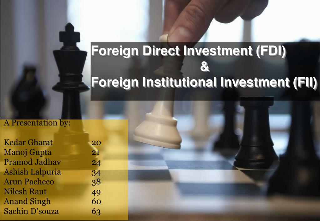 foreign direct investment fdi foreign institutional investment fii l.